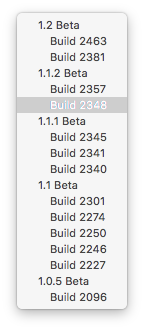 Many different builds in Xcode's build list